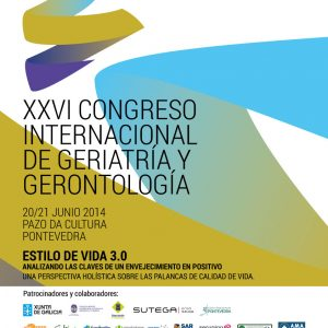 Imagen del Póster representativo del XXVI Congreso Internacional de la SGXX. 20 y 21 Junio 2014 Pontevedra. Pazo da Cultura