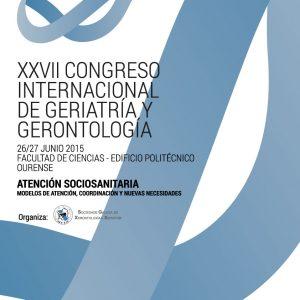Imagen del poster representativo del XXVII Congreso Internacional de la SGXX. 26 y 27 junio 2015 Ourense. Facultade de Ciencias - Edificio Politecnico Ourense