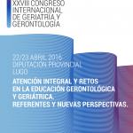 Imagen del poster representativo del XXVIII Congreso Internacional de la SGXX. 22 y 23 abril 2016 Lugo. Diputacion Provincial Lugo