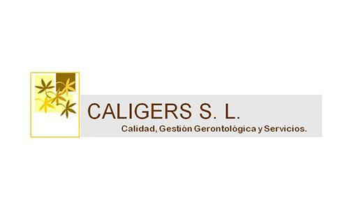 XXVIII Congreso internacional de la Sociedade Galega de Xerontoloxía e Xeriatria - logo patrocinador Caligers