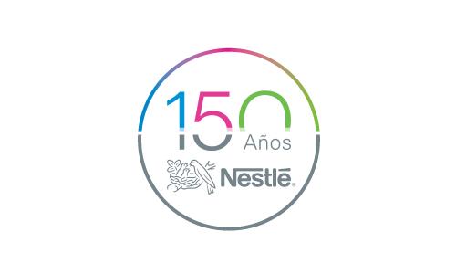 XXVIII Congreso internacional de la Sociedade Galega de Xerontoloxía e Xeriatria - logo patrocinador Nestlé