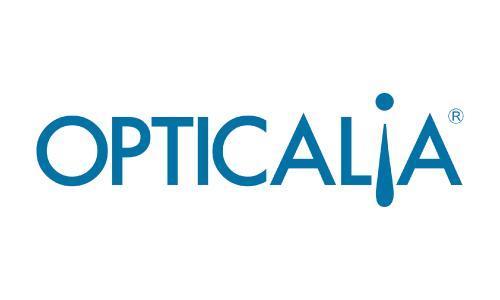 XXVIII Congreso internacional de la Sociedade Galega de Xerontoloxía e Xeriatria - logo patrocinador Opticalia