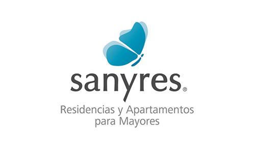 XXVIII Congreso internacional de la Sociedade Galega de Xerontoloxía e Xeriatria - logo patrocinador Sanyres